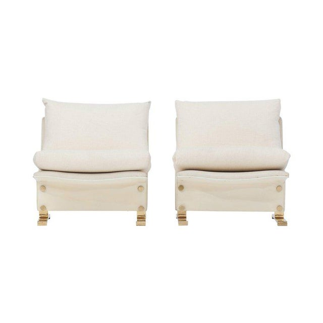 1970s Pair of Lounge chairs by Marzio Cecchi, Italy, 1960s For Sale - Image 5 of 10