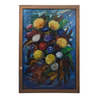 Impressionist Oil Painting Flowers. Still Life. Maurice Vagh-Weinmann (France/Hungary, 1897-1978) For Sale