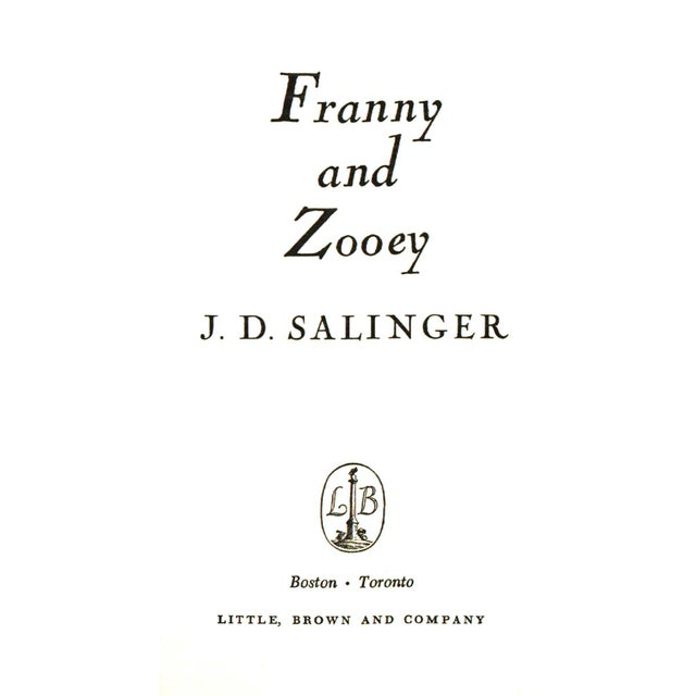 """Booth & Williams 1961 """"Franny and Zooey"""" Collectible Book For Sale - Image 4 of 5"""