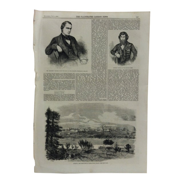"""1858 Antique """"Victoria - the Chief Town of Vancouver's Island"""" The Illustrated London News Print For Sale"""