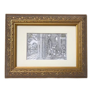 Antique 16th Century Woodcut Engraving Print by Virgil Solis C.1550 For Sale