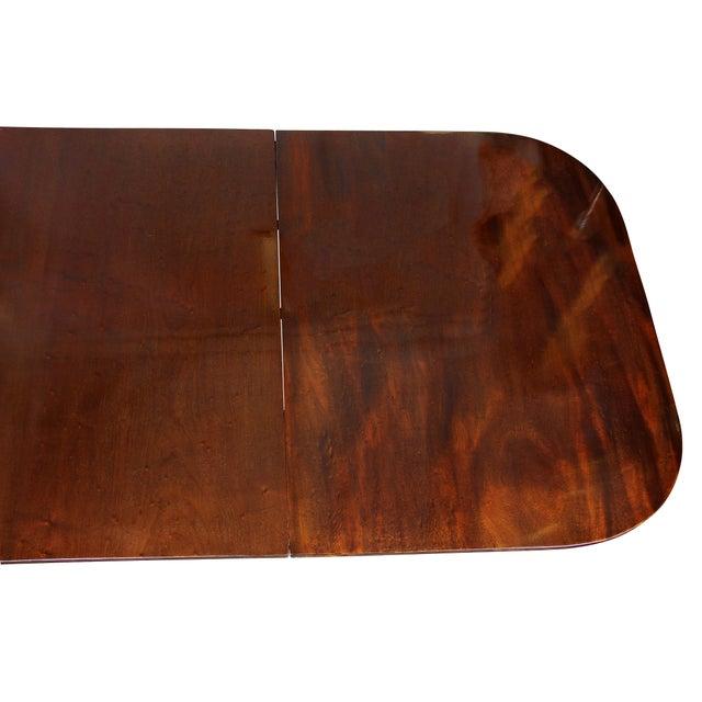 Auburn Regency Mahogany Three Pedestal Dining Table For Sale - Image 8 of 13