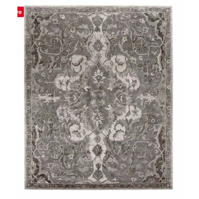 Modern Pottery Barn Gray Nolan Persian Wool Rug 8 215 10