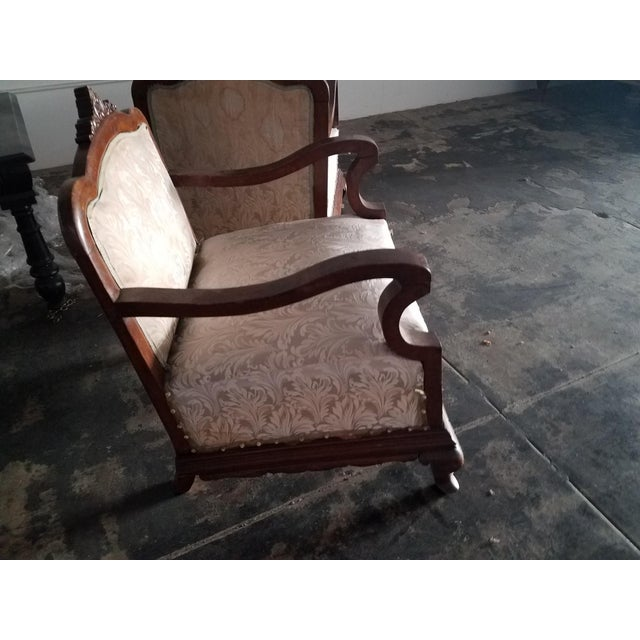 Neoclassical Revival Venation Neoclassical a Pair of Chairs For Sale - Image 3 of 4