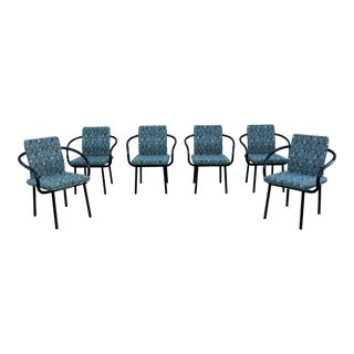 1986 Mid-Century Modern Ettore Sottsass for Knoll Mandarin Chairs - Set of 6 For Sale