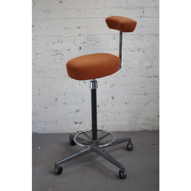 Orange Herman Miller George Nelson Probst Perch Stool For Sale - Image 8 of 8