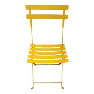Fermob Yellow Bistro Chair For Sale