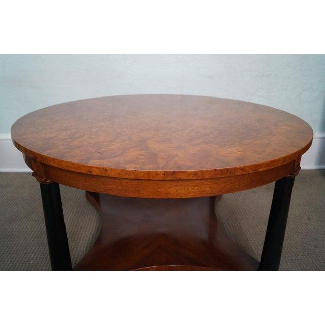 Vintage Italian Burl Wood Biedermeier Coffee Table For Sale - Image 7 of 10