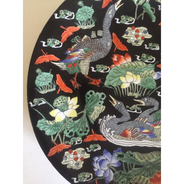 Vintage Asian Swan Platter - Image 6 of 8