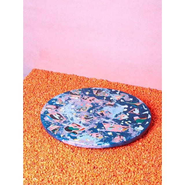 Contemporary Concrete Cat Chaos Lazy Susan For Sale - Image 3 of 3