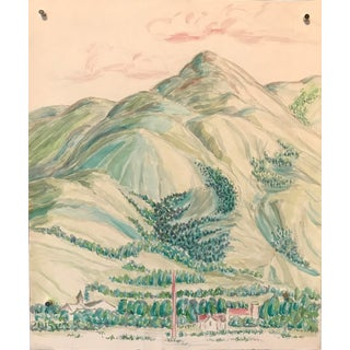 1950s Bay Area Landscape Painting Green Valley For Sale