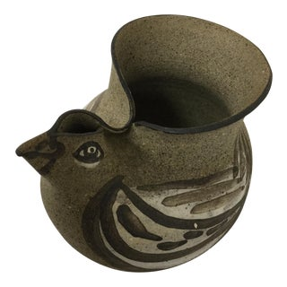 Stoneware Hand Turned Chicken Vessel For Sale