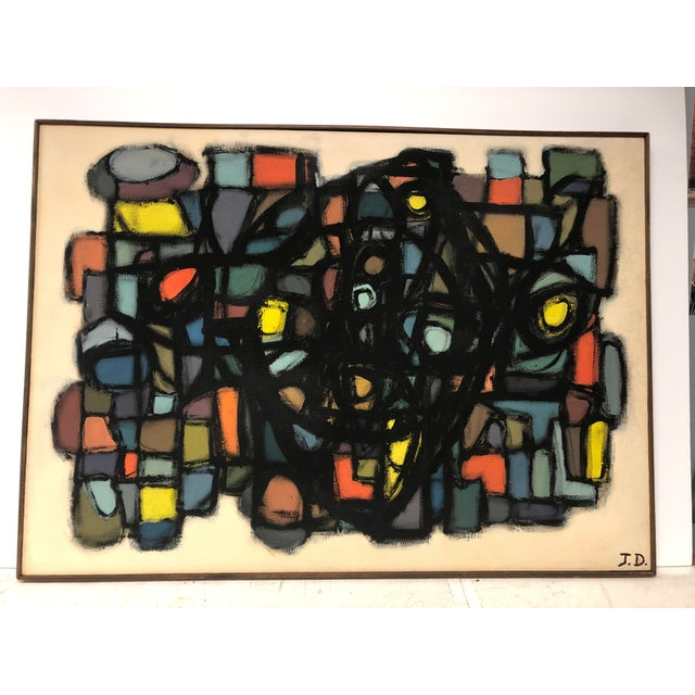 Canvas 1960's Abstract Oil Painting by J. S. DeYoe For Sale - Image 7 of 7