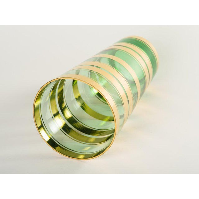 Mid-Century Modern Blown Glass Vase With 24-Karat Gold Details For Sale - Image 4 of 6