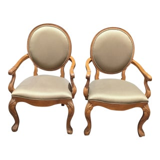 Century Furniture Louis XV Dining Chairs - a Pair For Sale