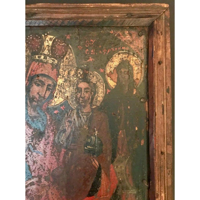 17th Century 17th Century Antique Russian Orthodox Painting For Sale - Image 5 of 13