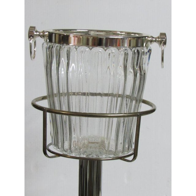 Silver Plate Champagne Stand & Crystal Bucket Set - Image 3 of 6
