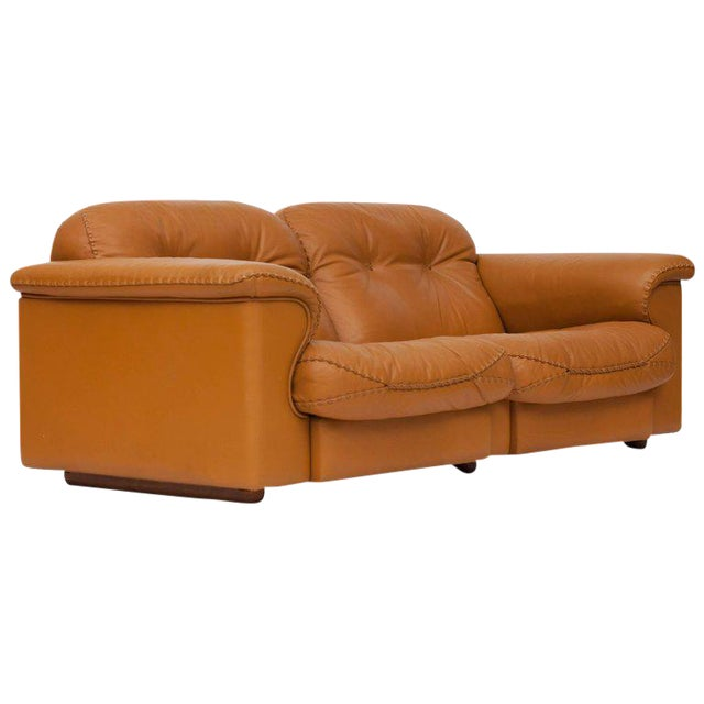 Adjustable Ds 101 Sofa in Brown Leather by De Sede For Sale