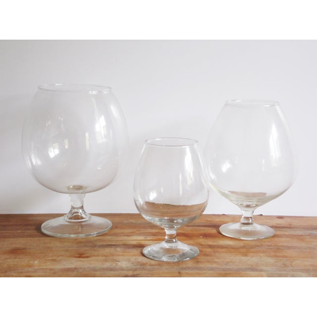Pedestal Glass Vases - Set of 3 - Image 3 of 5