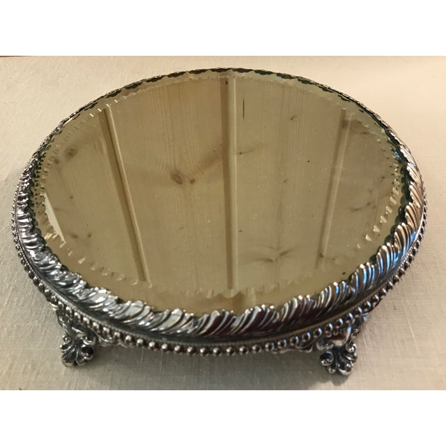 Vintage Silverplate Mirrored Plateau Stand - Image 8 of 10