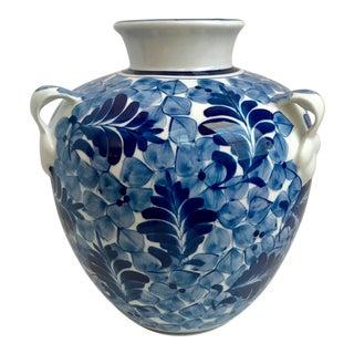 Asian Blue & White Porcelain Jar/Vase For Sale