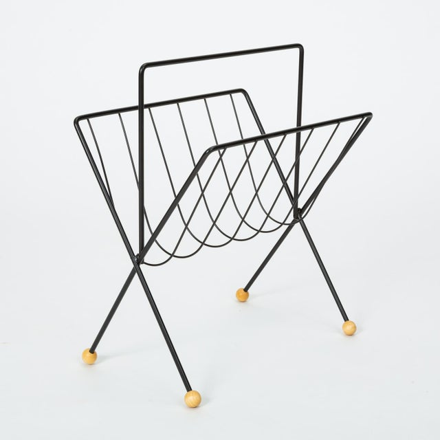 Metal 1950s Wire Magazine Rack by Tony Paul For Sale - Image 7 of 10