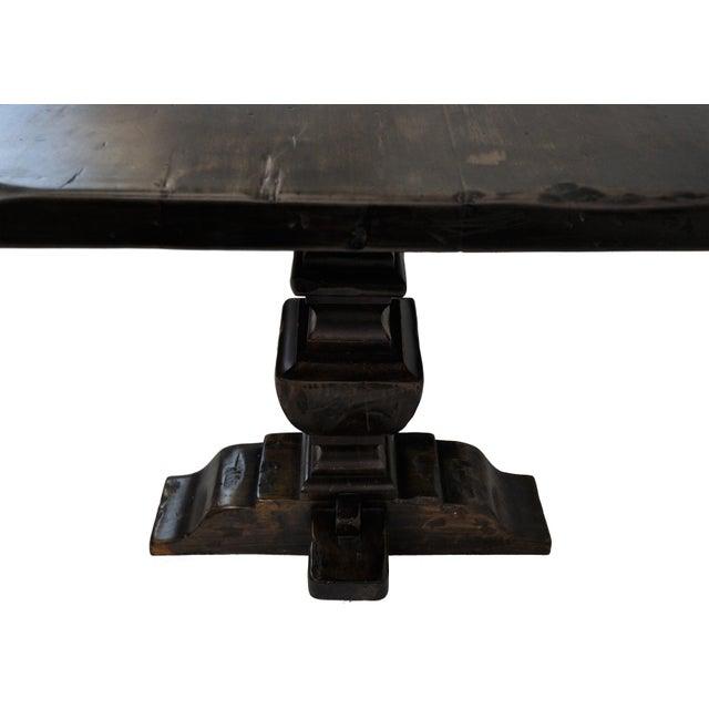 French Oak Trestle Dining Table - Image 7 of 10