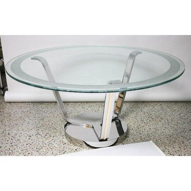 Vintage Karl Springer Round Dining or Center Table For Sale - Image 10 of 12