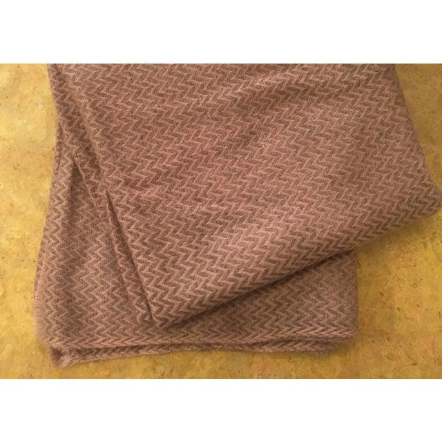 Large Pink Cashmere Blanket - Image 10 of 11