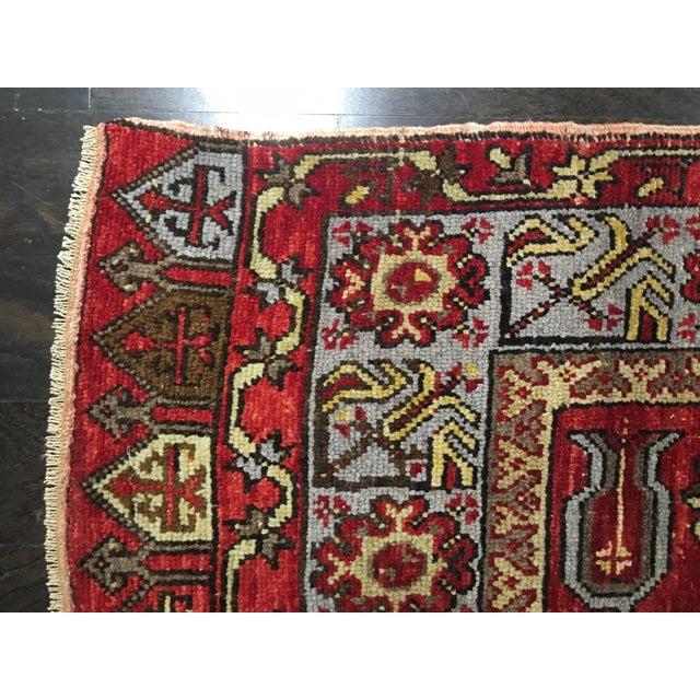 """Vintage Turkish Oushak Rug - 5' X 11'9"""" - Image 9 of 9"""
