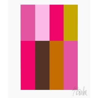 """Pink Composition Fine Art Print 45"""" X 55"""" by Liz Roache For Sale"""
