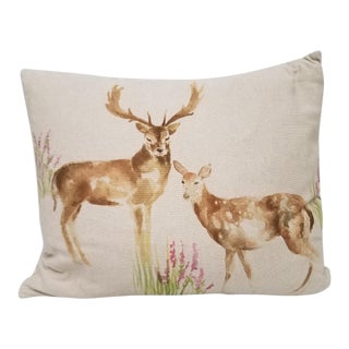 Buck and Doe Bolster Pillow For Sale