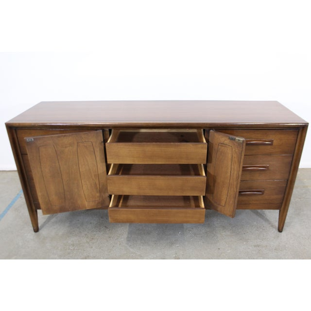 Broyhill Mid-Century Danish Modern Broyhill Emphasis Walnut Credenza Dresser For Sale - Image 4 of 13