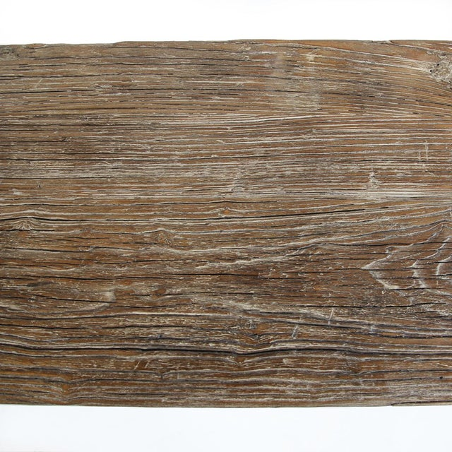 Asian Old Elm Wood Farm Console For Sale - Image 3 of 4