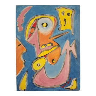"""Vintage Mark Adams """"Midnight Mermaid"""" Painting For Sale"""
