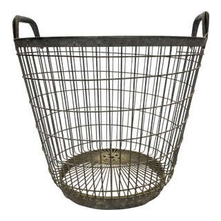 Metal Olive Harvest Basket For Sale