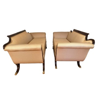 Vintage Mid-Century Duncan Phyfe Reproduction Sofas - a Pair or Singles For Sale
