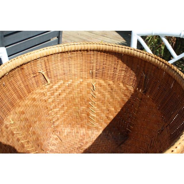 Large Vintage Woven Basket Planter For Sale - Image 11 of 13