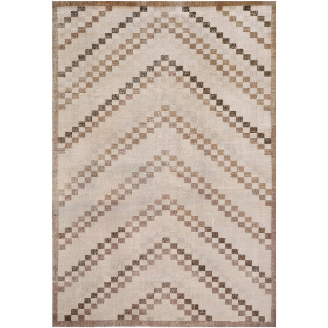 MANSOUR Mansour Quality Handmade Turkish Rug - 5′1″ × 7′3″ For Sale - Image 4 of 4
