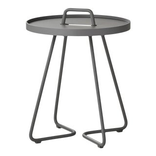 Cane-Line On-The-Move Side Table, X-Small, Light Grey For Sale