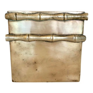 Brass Box With Faux Bamboo Accents For Sale