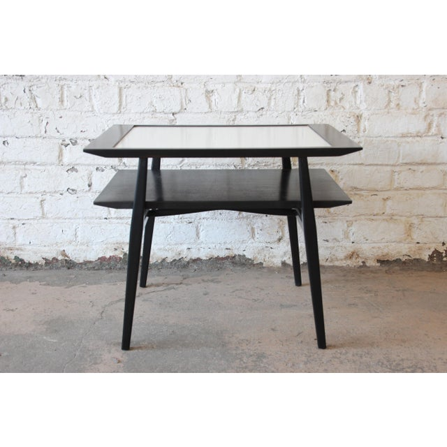 Bertha Schaefer for Singer & Sons Ebonized Mid-Century Modern End Tables- A Pair For Sale - Image 9 of 13