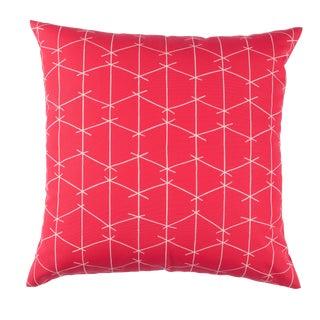 Contemporary Ferrick Mason Criss Cross Outdoor Custom Watermelon Pillow For Sale