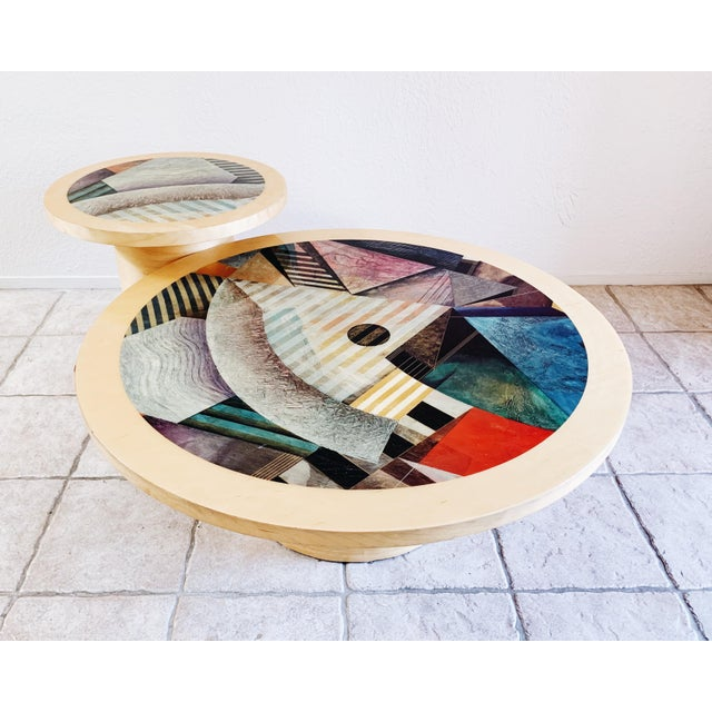 1980s Vintage Post Modern Cylinder Coffee Table For Sale In Las Vegas - Image 6 of 10