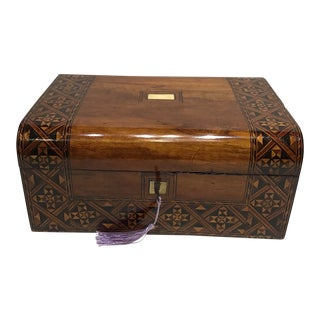 19th Century English Rosewood Turnbridge Box For Sale