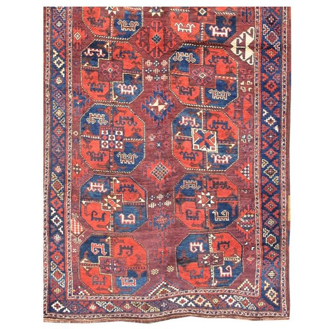 This rug belongs to a group of Central Asian weavings that still poses significant questions to admirers of Central Asian...
