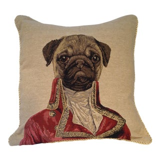 Captain Pug Pillow For Sale