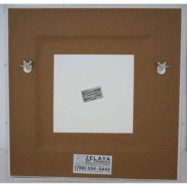 Vintage Framed Fernand Leger Porcelain Plates - a Set of 4 Different in Lucite Shadowbox Frames For Sale - Image 9 of 13