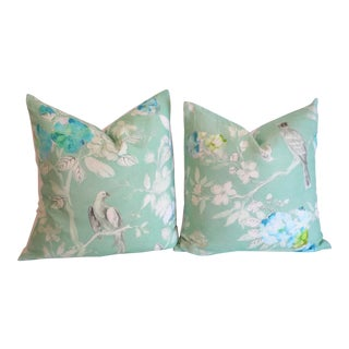 Pontoise Jade - Designers Guild Pillow Covers 18x18 - a Pair For Sale