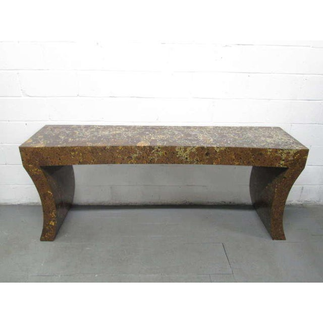 Enrique Garcel Lacquered Coconut Shell Console Table - Image 9 of 9